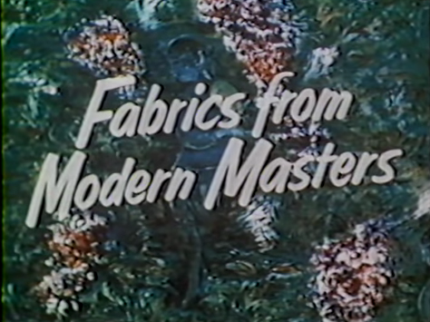 artist textiles fabrics modern masters